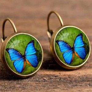 boho vintage copper Color earrings